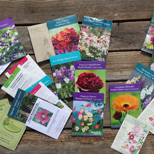 Hardy annual seed packets